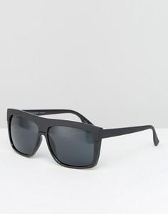 Солнцезащитные очки в черной оправе Pieces - Черный