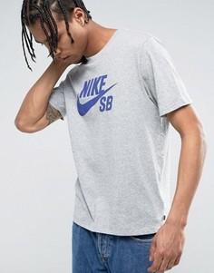 Серая футболка с логотипом Nike SB 821946-068 - Серый