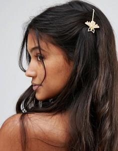 Заколка для волос со шмелем Johnny Loves Rosie - Золотой
