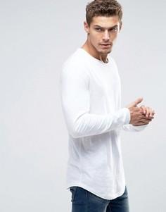 Удлиненный лонгслив Esprit - Белый