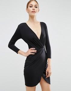 Платье мини с запахом ASOS - Черный
