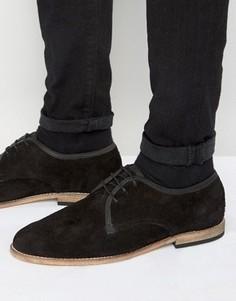 Замшевые туфли дерби Hudson London Hayane - Черный