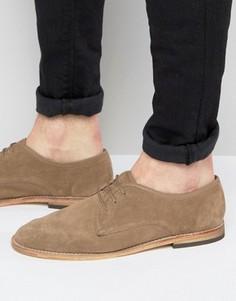 Замшевые туфли дерби Hudson London Hayane - Бежевый