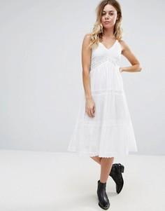 Платье с отделкой кроше Raga Cut To It - Белый