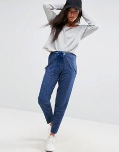 Брюки-шаровары с запахом в джинсовом стиле ASOS - Синий