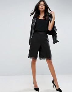 Юбка-шорты с кружевной отделкой ASOS - Черный
