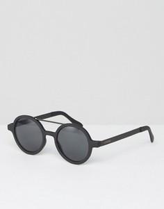 Черные матовые круглые солнцезащитные очки Komono Vivien - Черный