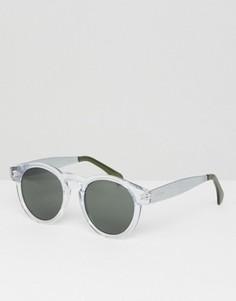 Круглые солнцезащитные очки в прозрачной оправе Komono Clement - Прозрачный