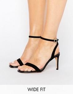 Босоножки на каблуке для широкой стопы ASOS HIDEAWAY - Черный