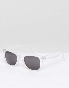Квадратные солнцезащитные очки в прозрачной оправе ASOS - Прозрачный