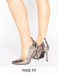 Туфли-лодочки для широкой стопы с рельефной отделкой Lost Ink - Серебряный