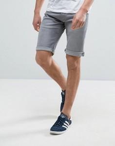 Светло-серые джинсовые шорты с закатанными краями Esprit - Серый