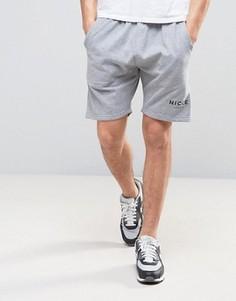 Серые шорты с логотипом Nicce London - Серый