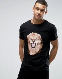 Футболка со львом D-Struct - Черный