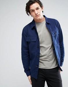 Рубашка навыпуск с карманами в стиле милитари Jack & Jones Vintage - Синий