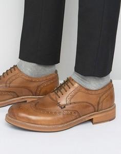 Светло-коричневые кожаные броги Ben Sherman Patrick - Рыжий