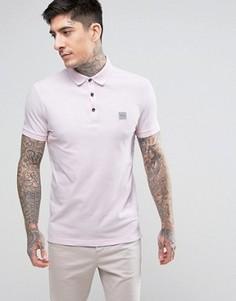Узкая розовая футболка-поло BOSS Orange by Hugo Boss - Розовый
