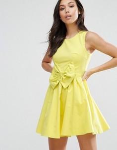 Платье с бантом Madam Rage - Желтый