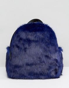 Миниатюрный рюкзак из искусственного меха Skinnydip - Синий