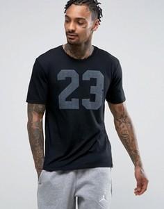 Футболка с логотипом Nike Jordan Iconic 23 843713-010 - Черный