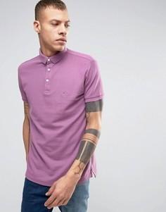 Футболка-поло из пике светло-сливового цвета Lindbergh - Фиолетовый