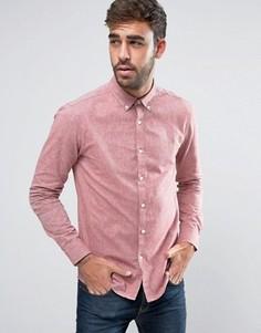 Красная оксфордская рубашка с 2-цветным плетением Farah Steen - Красный