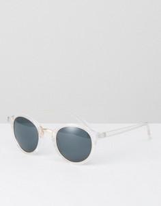 Круглые солнцезащитные очки в прозрачной оправе ASOS - Прозрачный