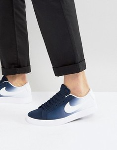 Темно-синие кроссовки Nike SB Blazer Vapor 902663-411 - Темно-синий