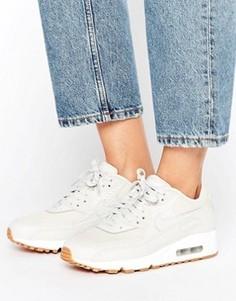 Бежевые кроссовки Nike Air Max 90 Premium - Кремовый
