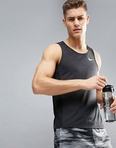 Черная майка Nike Running Miler Breathe 834238-014 - Черный