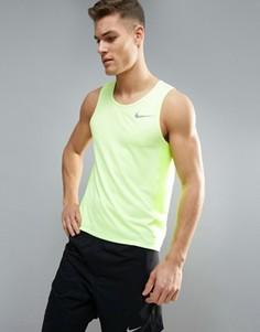 Желтая майка Nike Running Miler Breathe 834238-701 - Желтый