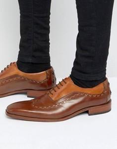 Кожаные оксфордские туфли Jeffery West Capone - Рыжий