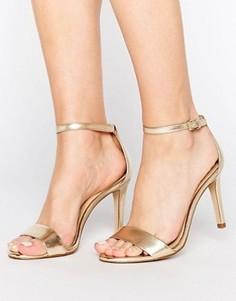 Золотистые сандалии металлик с ремешками ALDO - Золотой