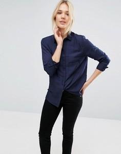 Рубашка с двумя карманами Neon Rose - Темно-синий