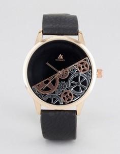 Часы с частично открытым механизмом ASOS - Черный