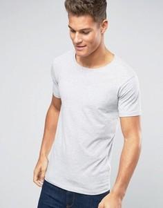 Серая меланжевая футболка из хлопка стретч Lindbergh - Серый