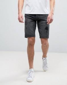 Рваные джинсовые шорты классического кроя Jack & Jones Intelligence - Черный