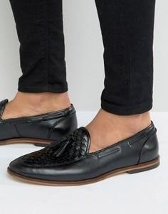 Черные кожаные лоферы ASOS - Черный