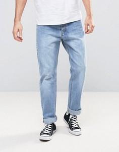 Светлые выбеленные прямые джинсы Dr Denim Ed - Синий