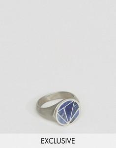 Кольцо-печатка с геометрическим дизайном Simon Carter эксклюзивно для ASOS - Черный