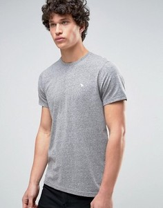 Серая обтягивающая футболка Abercrombie & Fitch Core - Серый