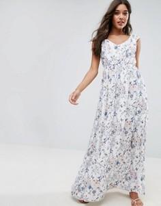 Платье макси с цветочным принтом Vila - Белый