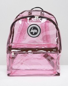 Розовый прозрачный рюкзак Hype - Розовый