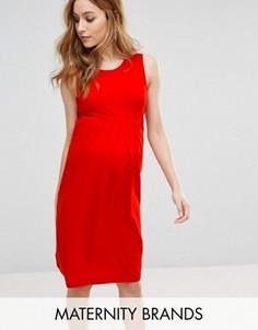 Платье миди без рукавов Isabella Oliver - Красный