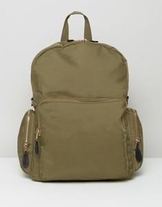Рюкзак в стиле милитари с карманами Monki - Зеленый