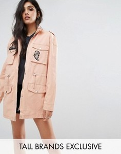Куртка с вышивкой и пайетками на кармане Noisy May Tall - Оранжевый