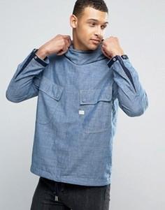 Куртка из шамбре с капюшоном G-Star - Синий