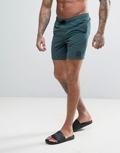 Темно-зеленые шорты для плавания с нашивкой ASOS - Зеленый