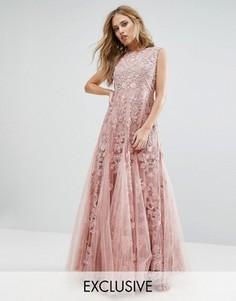 Декорированное платье макси для выпускного A Star Is Born - Розовый