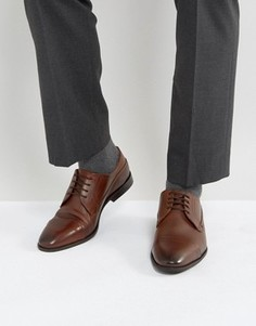 Светло-коричневые строгие туфли со вставкой на носке New Look - Рыжий